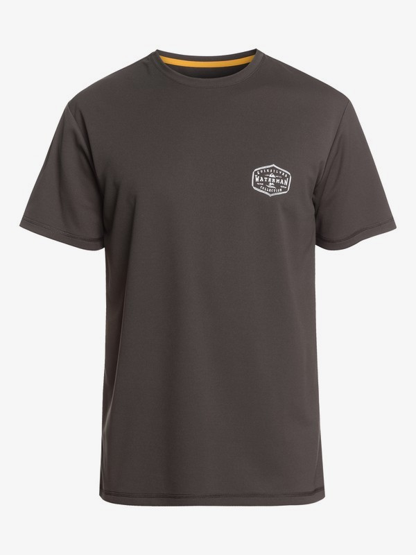 0 Waterman Gut Check - Camiseta de Surf de Manga Corta con Protección Solar UPF 50 para Hombre Negro EQMWR03058 Quiksilver