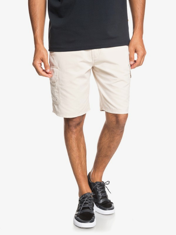 "0 Waterman Maldive 20"" - Cargo Shorts for Men Grey EQMWS03078 Quiksilver"