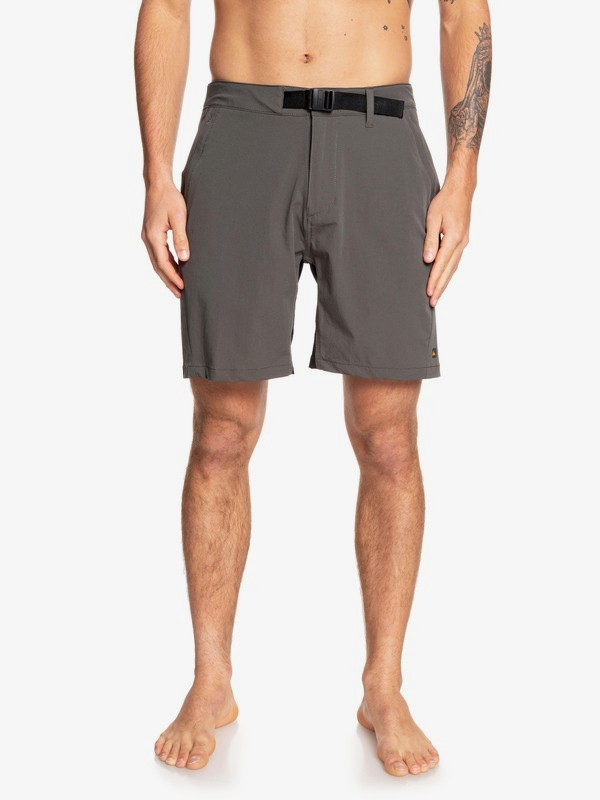 "0 Waterman Venture 19"" - Amphibian Board Shorts for Men Black EQMWS03090 Quiksilver"