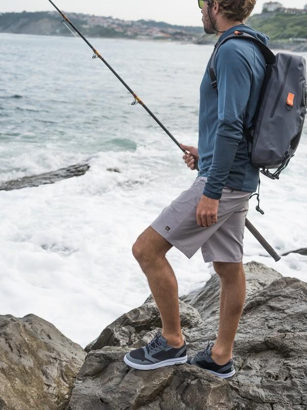 """0 Waterman Backwater 20"""" - Boardshort Anfibio para Hombre Gris EQMWS03093 Quiksilver"""
