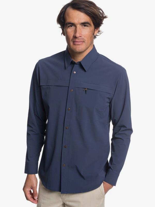 0 Waterman Salt Water Explorer - Camiseta técnica de manga larga con UPF 30 para Hombre Azul EQMWT03189 Quiksilver