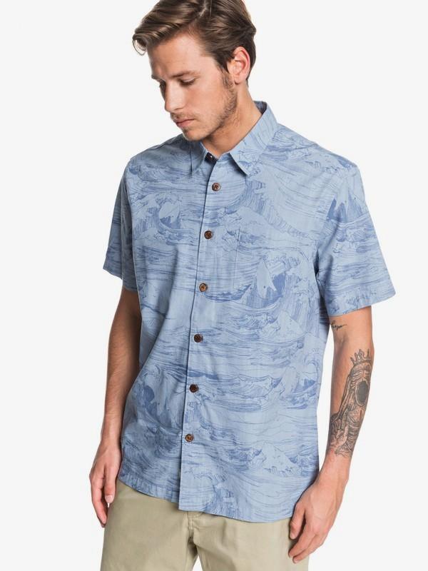 Waterman Les Waves - Short Sleeve Shirt for Men  EQMWT03259