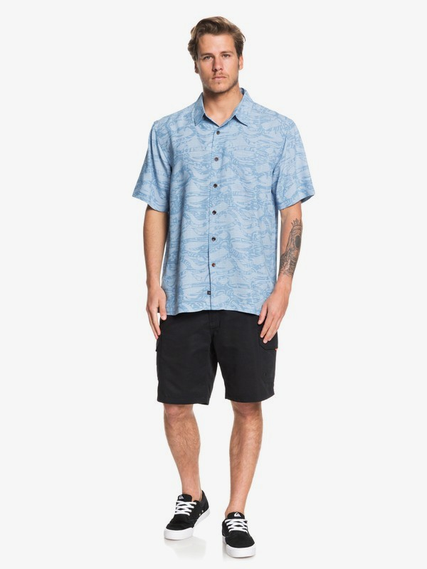 Waterman Tribal Kelp - Short Sleeve Shirt for Men  EQMWT03260