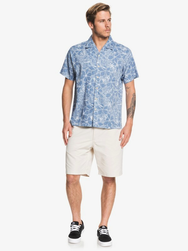 Waterman Big Swells - Short Sleeve Shirt for Men  EQMWT03261