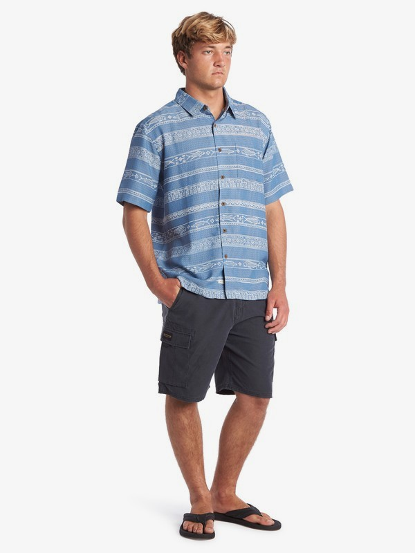 Waterman Tapa Sunriser - Short Sleeve Shirt for Men  EQMWT03263