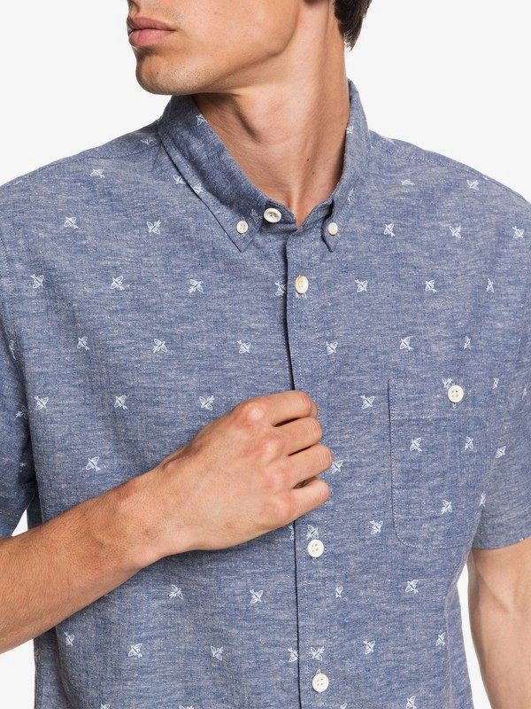 Waterman Airbourne Fishes - Short Sleeve Shirt for Men  EQMWT03295