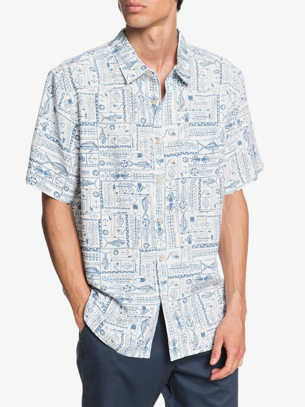 Waterman Model Island - Short Sleeve Shirt for Men  EQMWT03303