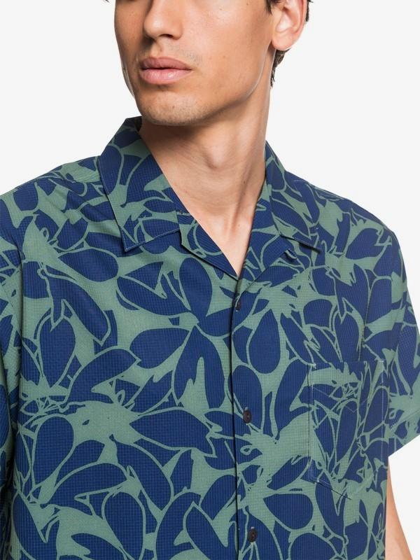 Waterman Floral Lake - UPF 30 Short Sleeve Shirt  EQMWT03310