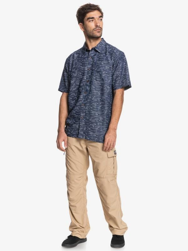 Waterman Fish Frenzy - Short Sleeve Shirt for Men  EQMWT03409