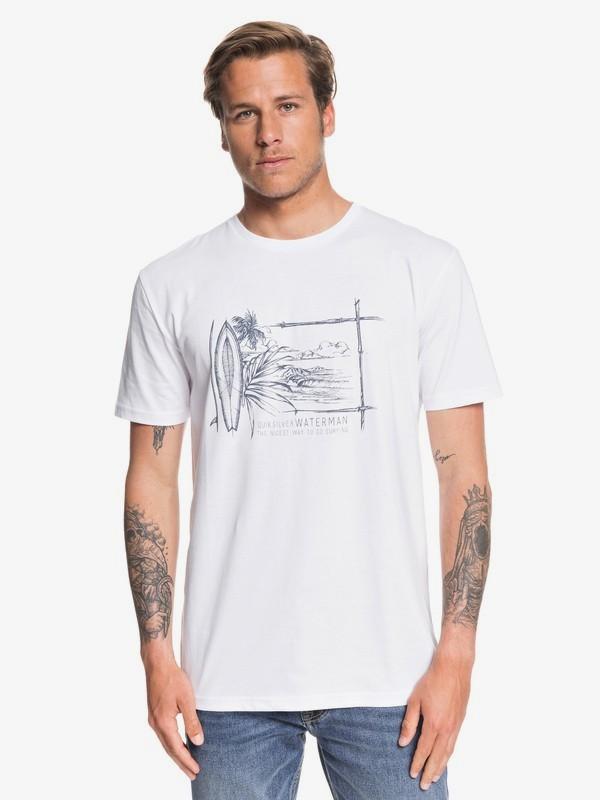 0 Waterman Simple Lines - Camiseta para Hombre Blanco EQMZT03143 Quiksilver