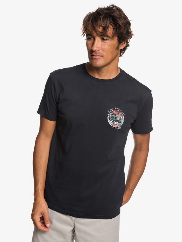 0 Waterman Whale Sunset - Camiseta para Hombre Negro EQMZT03144 Quiksilver