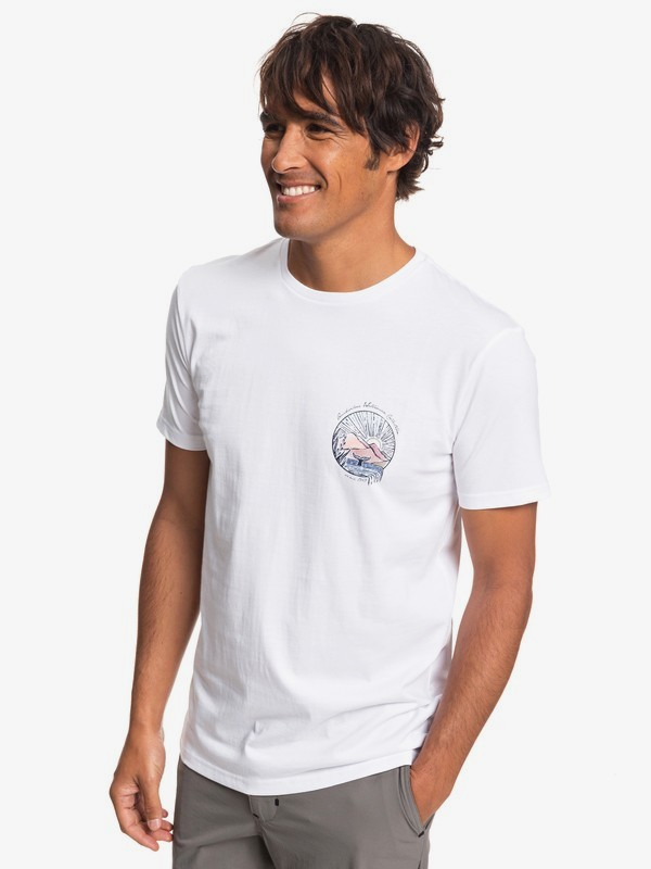 0 Waterman Whale Sunset - Camiseta para Hombre Blanco EQMZT03144 Quiksilver