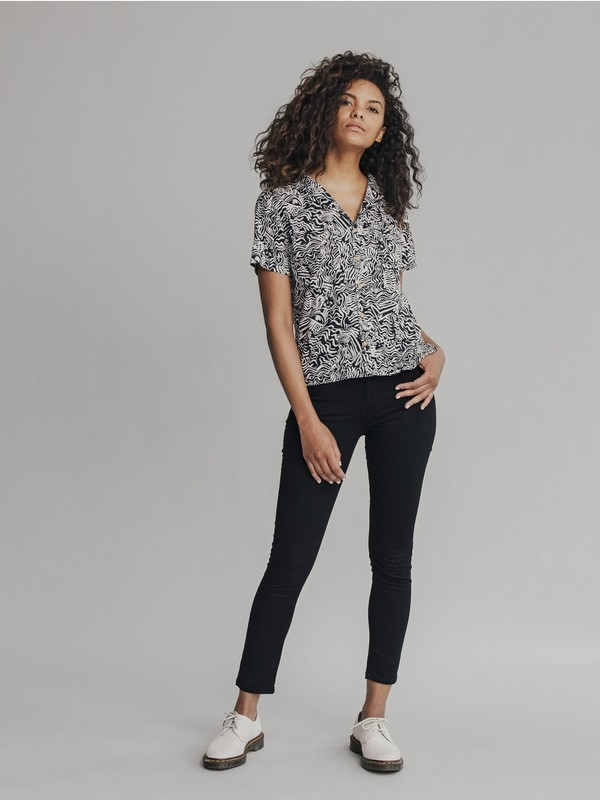 Quiksilver Womens - High Rise Skinny Fit Jeans EQWDP03001