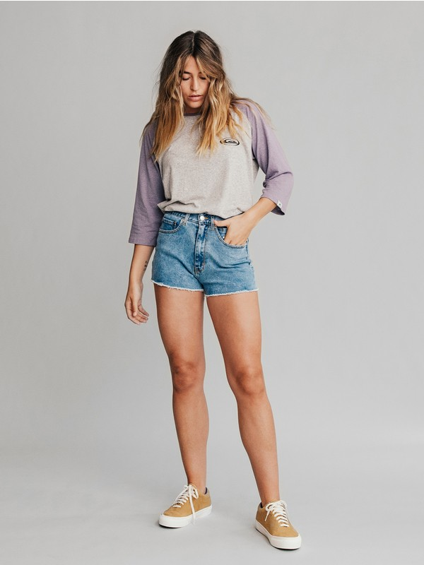 Quiksilver Womens - High Waist Denim Shorts  EQWDS03000