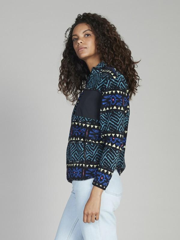 Quiksilver Womens - Zip-Up Half Neck Fleece for Women EQWFT03003