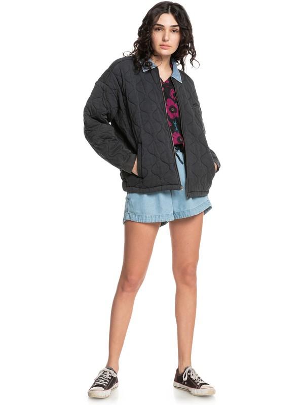 Quiksilver Womens Deeper Ocean - Organic Mid-Length Jacket for Women  EQWFT03055