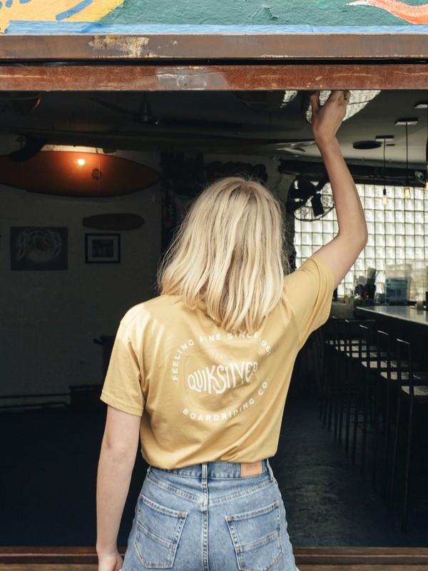0 Quiksilver Womens - T-Shirt Yellow EQWKT03001 Quiksilver