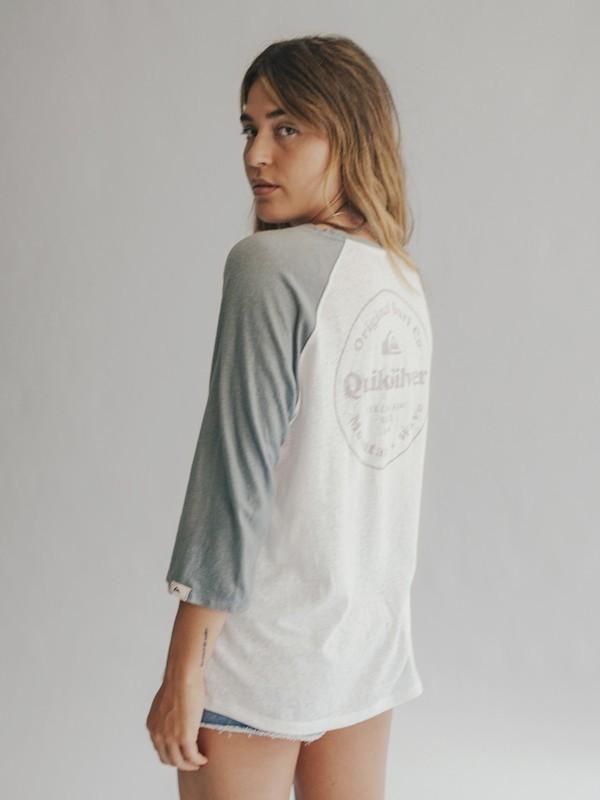 0 Quiksilver Womens - 3/4 Sleeve T-Shirt Blue EQWKT03004 Quiksilver