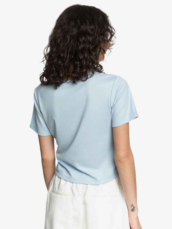Quiksilver Womens - Short Sleeve Cropped Top for Women  EQWKT03048