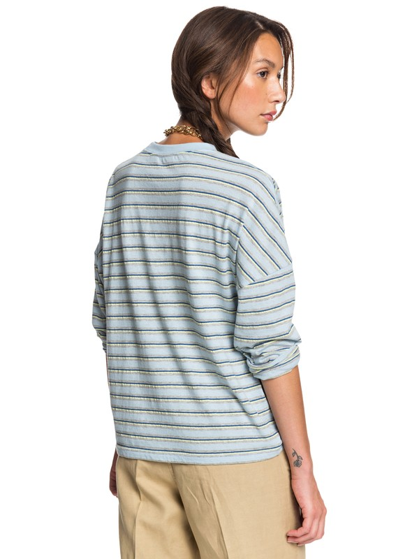 FLUID STRIPES BOXY LS  EQWKT03050
