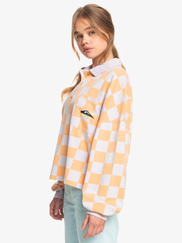 Worldwide View - Organic Long Sleeve Polo Shirt for Women  EQWKT03085