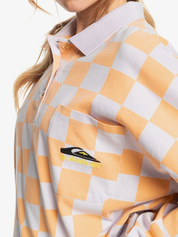 Worldwide View - Organic Long Sleeve Polo Shirt for Women  EQWKT03085