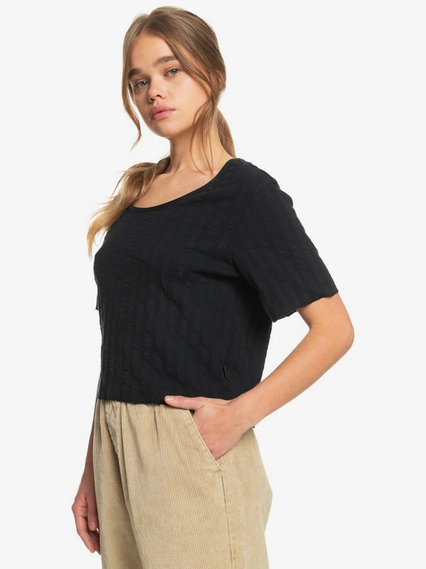 Wild Westland - Organic Short Sleeve Top for Women  EQWKT03089