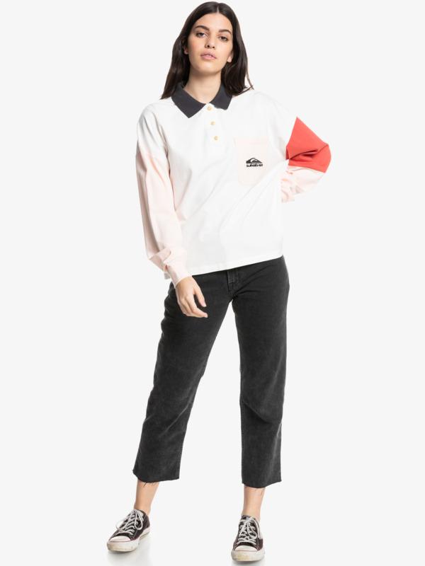 Culture Icon - Long Sleeve Polo Shirt for Women  EQWKT03108