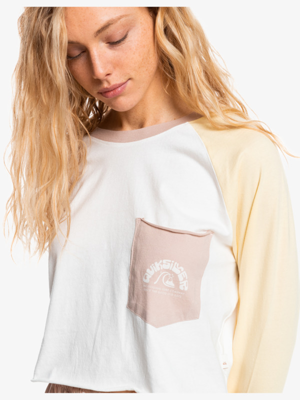 Iconic Horizon - Cropped Long Sleeve T-Shirt for Women  EQWKT03132