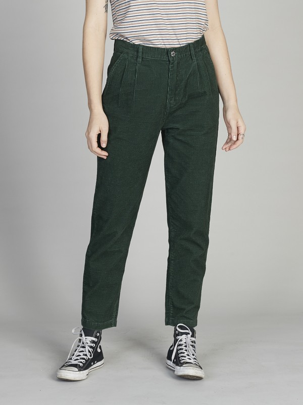 Quiksilver Womens - Pleated Corduroy Trousers for Women EQWNP03004