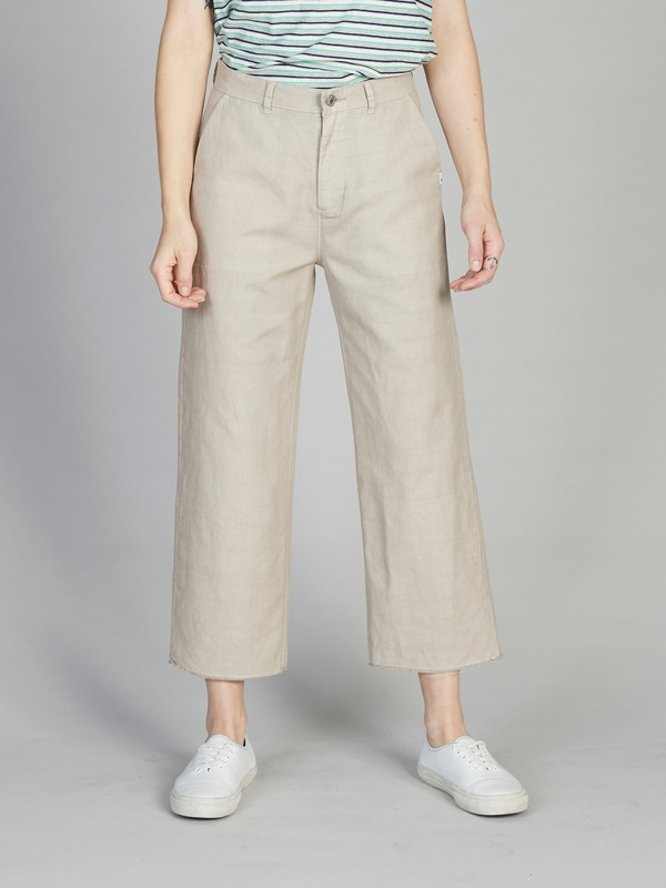 Quiksilver Womens - Flared Cropped Linen Trousers  EQWNP03006