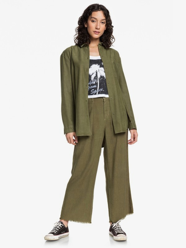 Quiksilver Womens - Cropped Flared Lined Trousers  EQWNP03008