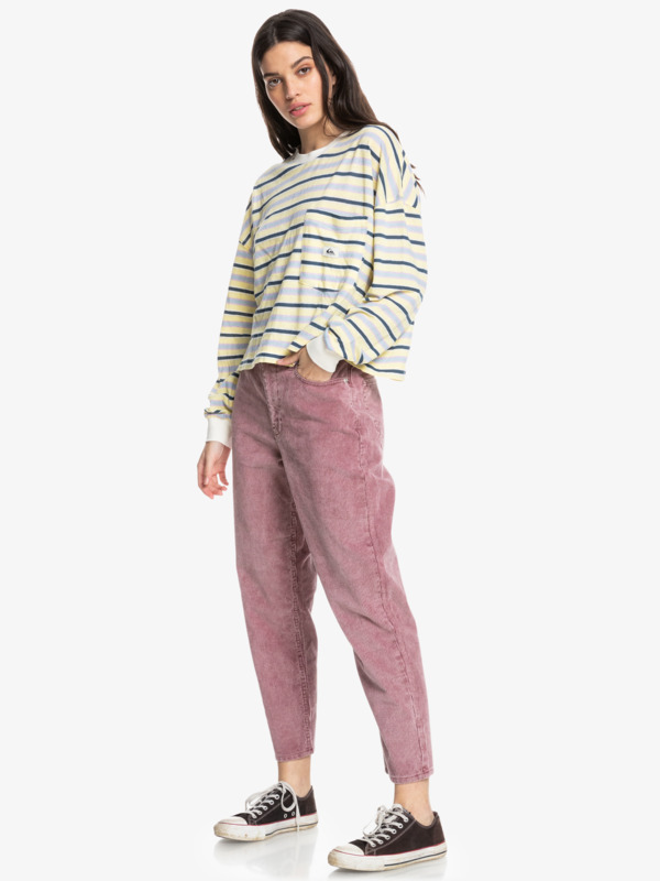 Timeless Classic - Mum Fit Corduroy Trousers for Women  EQWNP03034