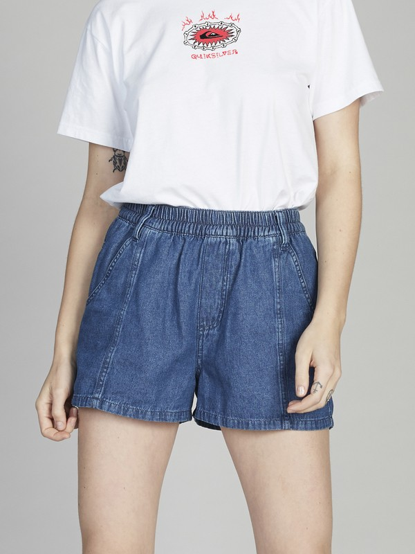 Quiksilver Womens - Elasticated Shorts for Women  EQWNS03008