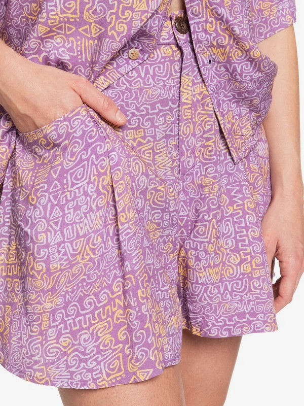 Tribal Session - Fluid Shorts for Women  EQWNS03034