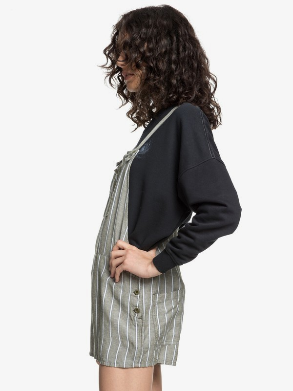 Quiksilver Womens - Linen Dungaree Shorts  EQWWD03001