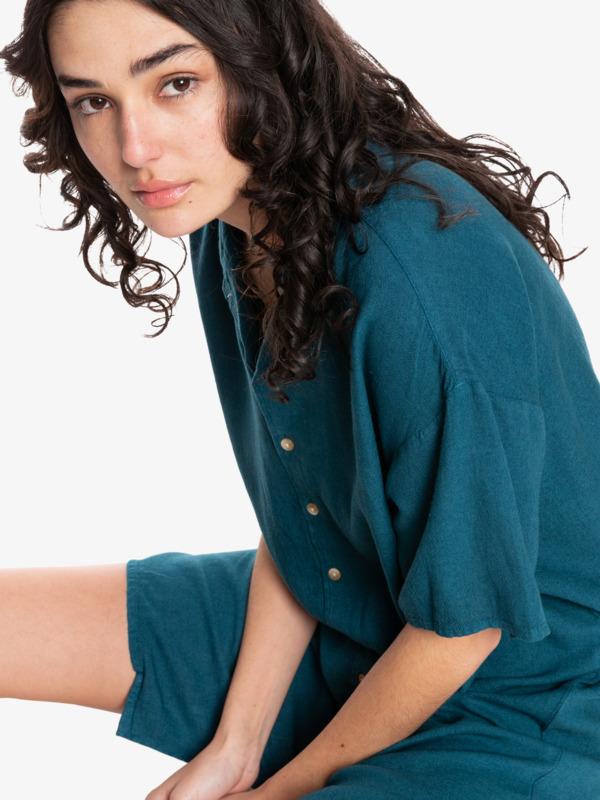 Quiksilver Womens Surf Camp - Short Sleeve Shirt Dress for Women  EQWWD03023