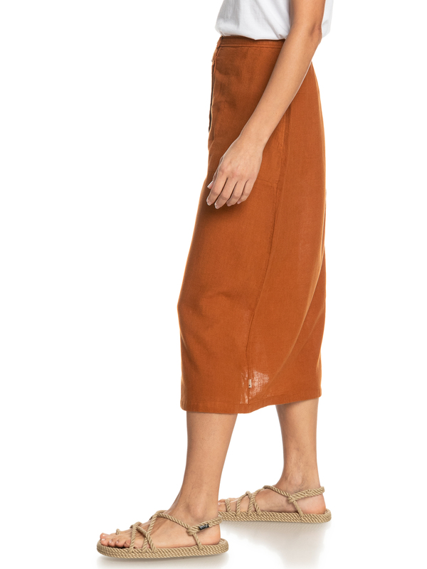 Button Up - Midi Skirt for Women  EQWWK03004