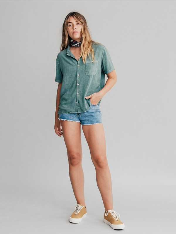 Quiksilver Womens - Short Sleeve Camp Shirt  EQWWT03002