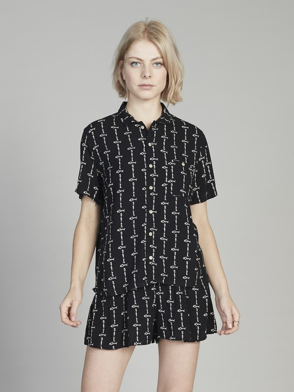Quiksilver Womens - Short Sleeve Camp Shirt for Women EQWWT03014