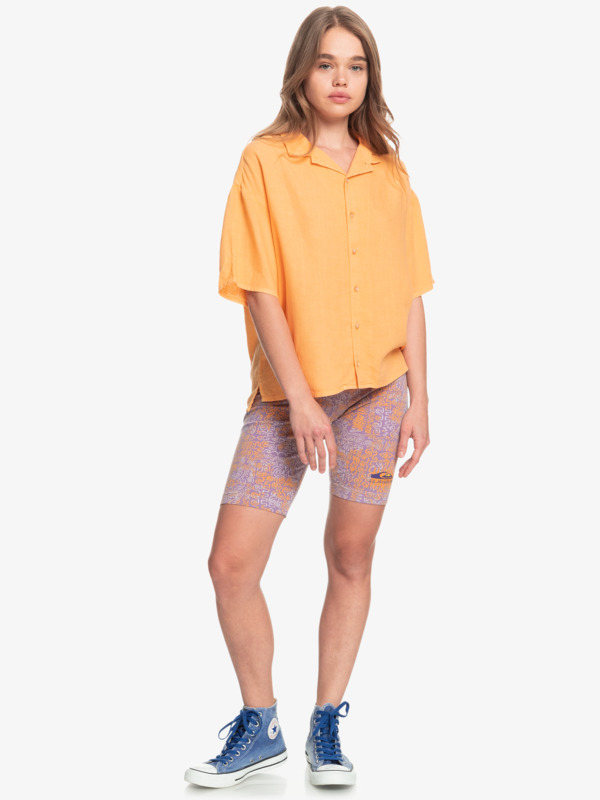 Surf Camp - Boxy Camp Shirt for Women  EQWWT03052
