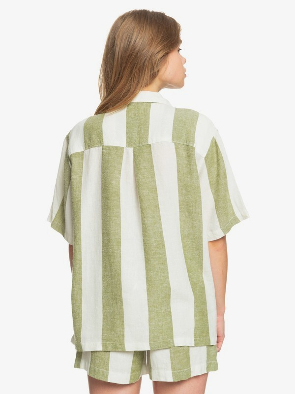 Destination Trip - Linen Short Sleeve Shirt for Women  EQWWT03059