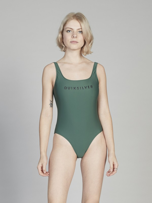 0 Quiksilver Womens - One-Piece Swimsuit for Women Green EQWX103003 Quiksilver