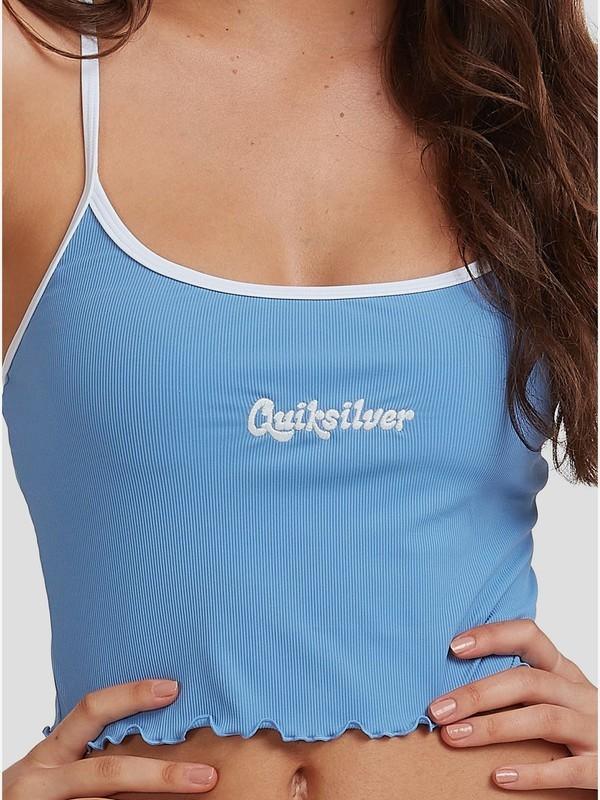 Quiksilver Womens - Cropped Vest Bikini Top for Women  EQWX303008