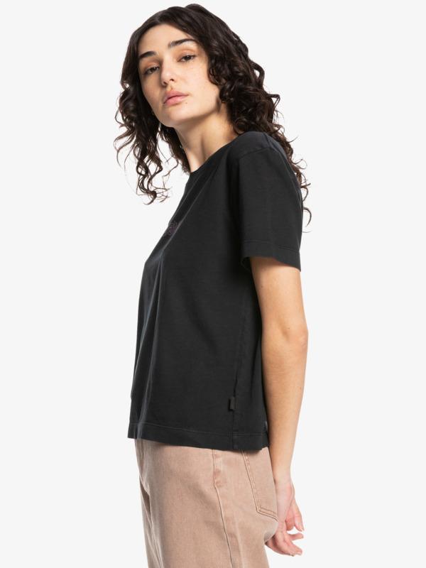 Quiksilver Womens Painted Love Crop - Organic T-Shirt for Women  EQWZT03054