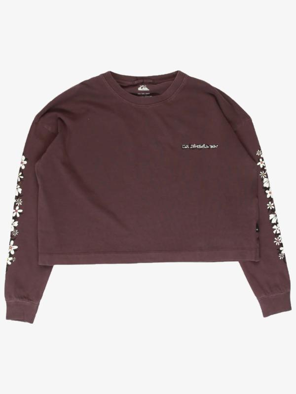 Quiksilver Womens Thorny Crop - Organic Long Sleeve T-Shirt for Women  EQWZT03055