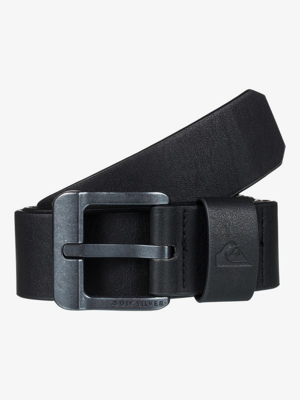 0 Main Street - Fake Leather Belt Black EQYAA03558 Quiksilver