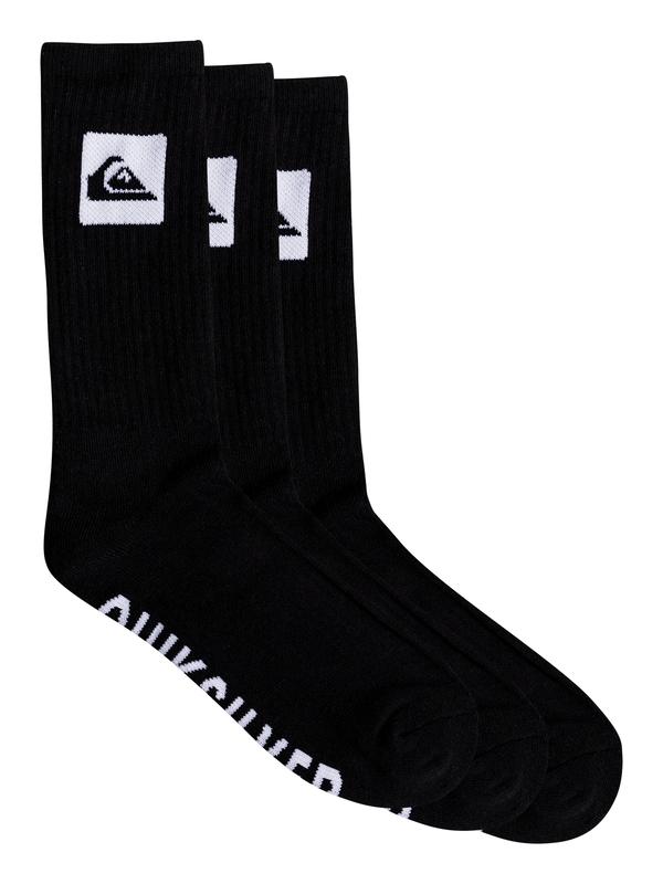 0 3 Pack - Crew Socks Black EQYAA03669 Quiksilver
