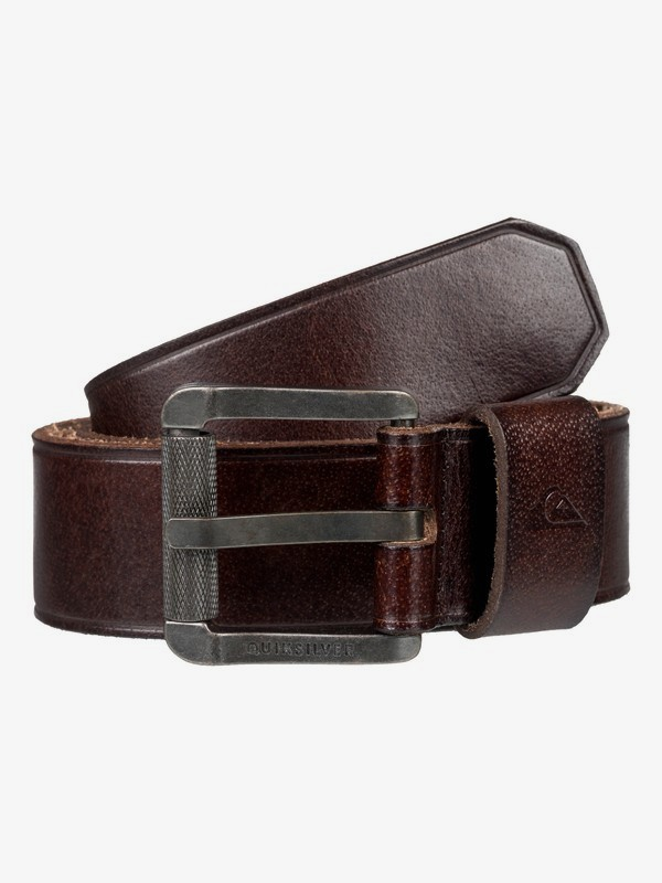 0 The Everydaily - Leather Belt Brown EQYAA03737 Quiksilver