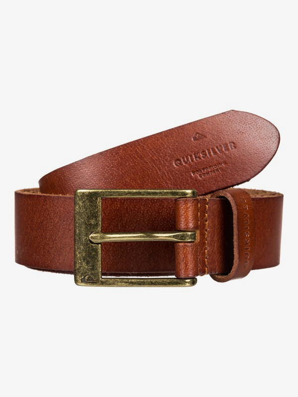 0 Slim Premium - Leather Belt for Men Brown EQYAA03833 Quiksilver